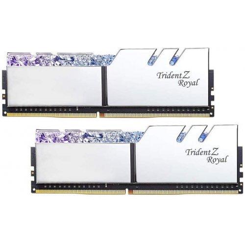 Фото G.Skill DDR4 16GB (2x8GB) 3600Mhz Trident Z Royal Silver (F4-3600C18D-16GTRS)