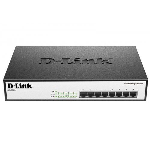 Купить Сетевые коммутаторы, D-Link DES-1008P+