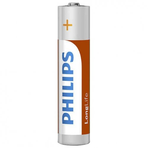 Фото Батарейки Philips AAA (LR03) LongLife Zinc Carbon 4шт (R03L4B/10)
