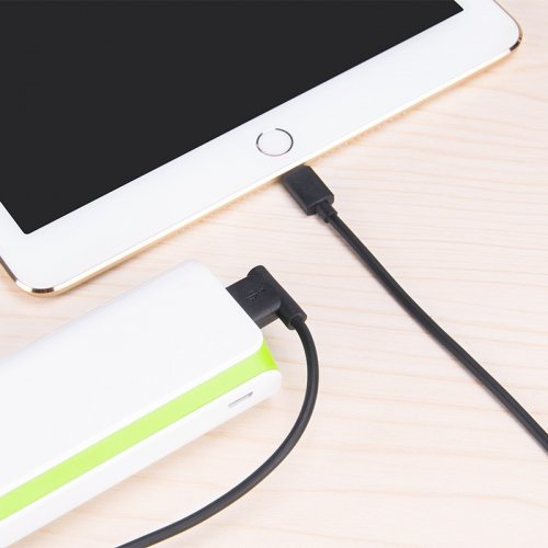 Фото USB Кабель Hoco UPL11 L-Shape USB to Lightning 2.1A 1.2m Data/Charge Black