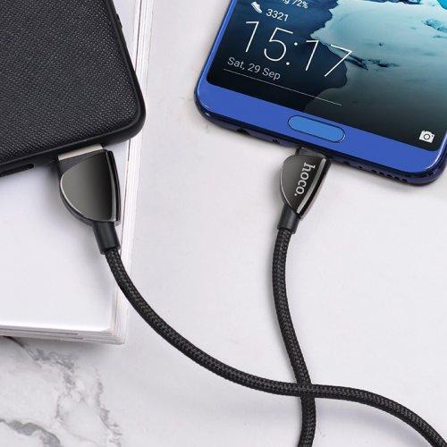 Фото USB Кабель Hoco U62 Simple USB to USB Type-C 3A 1.2m double-sided Data/Charge Black