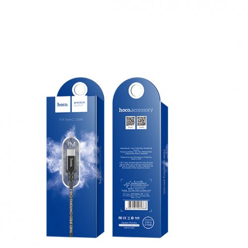 Фото USB Кабель Hoco X14 Times Speed USB to USB Type-C 2A 1m Data/Charge Black