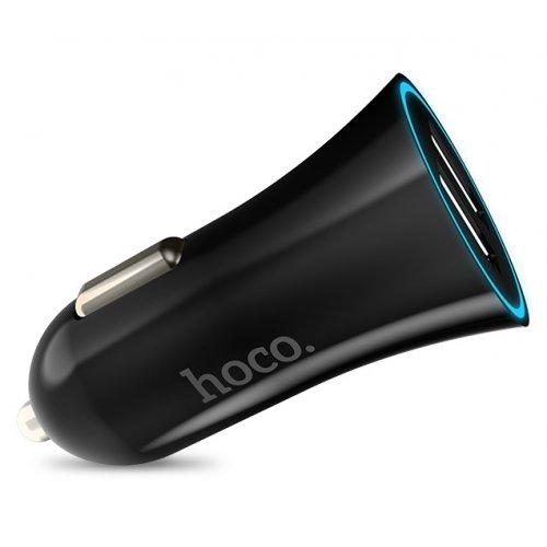 Фото Автомобільний зарядний пристрій Hoco UC204 2.4A 2 USB Black
