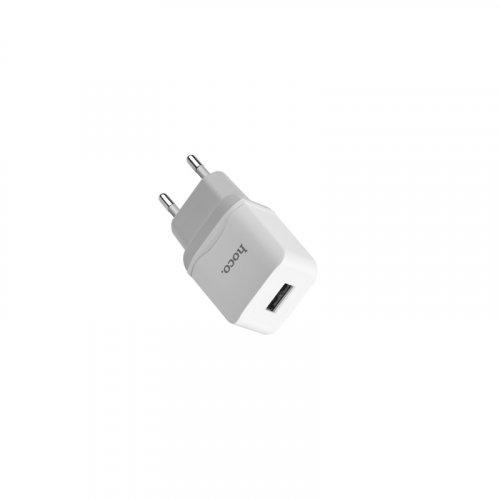 Фото Сетевое зарядное устройство Hoco C22A 2.4A 1 USB White