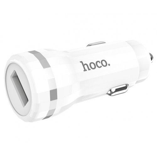 Фото Автомобильное зарядное устройство Hoco Z27A Staunch QC3.0 3A 1 USB White