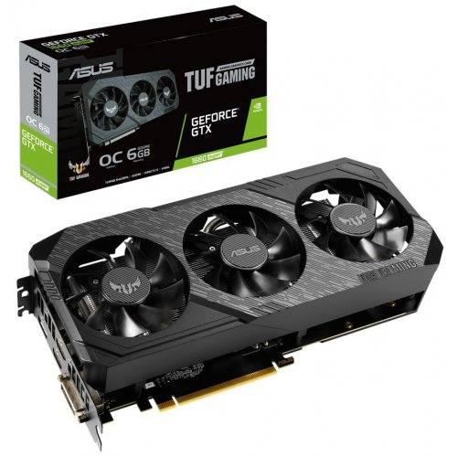 Фото Видеокарта Asus TUF GeForce GTX 1660 SUPER Gaming X3 OC 6144MB (TUF3-GTX1660S-O6G-GAMING)