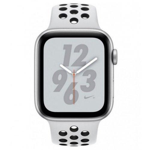 Фото Умные часы Apple Watch Series 4 GPS Nike+ 40mm Aluminium Case with Pure Platinum/Black Nike Sport Band (MU6H2) Silver
