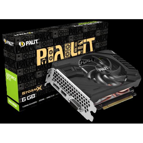 Фото Видеокарта Palit GeForce GTX 1660 SUPER StormX 6144MB (NE6166S018J9-161F)
