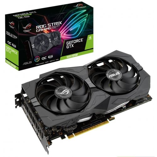 Фото Видеокарта Asus ROG GeForce GTX 1660 SUPER STRIX OC 6144MB (ROG-STRIX-GTX1660S-O6G-GAMING)