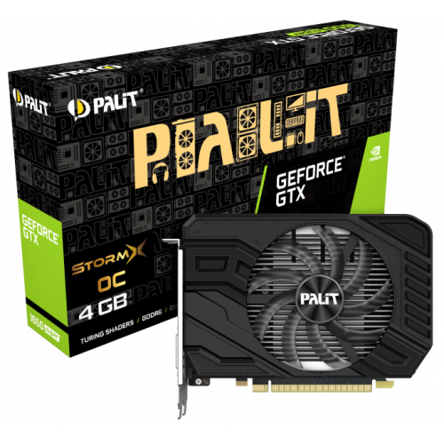 Фото Видеокарта Palit GeForce GTX 1650 SUPER StormX OC 4096MB (NE6165SS18G1-166F)