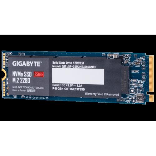 Фото SSD-диск Gigabyte 256GB M.2 (2280 PCI-E) NVMe 1.3 (GP-GSM2NE3256GNTD)