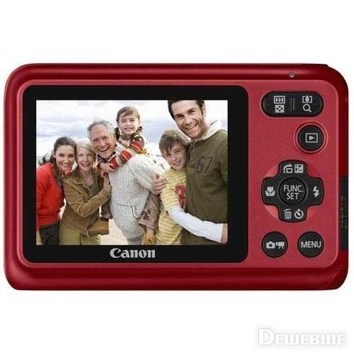 Фото Цифровые фотоаппараты Canon PowerShot A800 Red