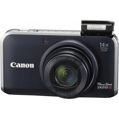 Фото Цифровые фотоаппараты Canon PowerShot SX210 IS Black