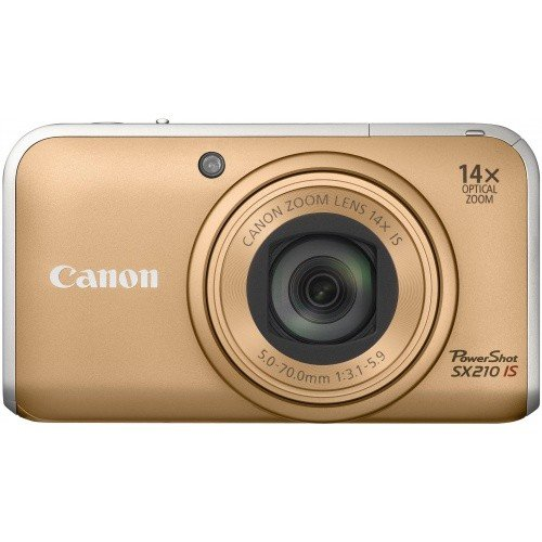 Фото Цифровые фотоаппараты Canon PowerShot SX210 IS Gold