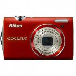 Фото Цифровые фотоаппараты Nikon Coolpix S5100 Red