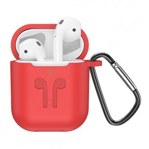 Фото Наушники Hoco ES32 White with Wireless Charging Case Red