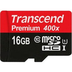 Фото Карта памяти Transcend microSDHC 16GB Class 10 UHS-I Premium 300X (без адаптера) (TS16GUSDCU1)
