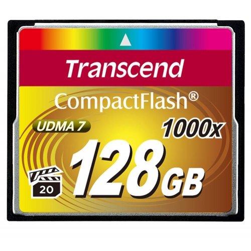 Фото Карта памяти Transcend CF 128GB (1000x) (TS128GCF1000)