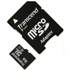Фото Карта памяти Transcend microSDHC 8GB Class 10 UHS-I Premium 300X (с адаптером) (TS8GUSDU1)