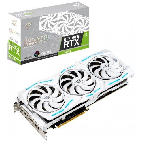 Купить Видеокарты, Asus ROG GeForce RTX 2080 Ti STRIX OC White 11264MB (ROG-STRIX-RTX2080TI-O11G-WHITE-GAMING)