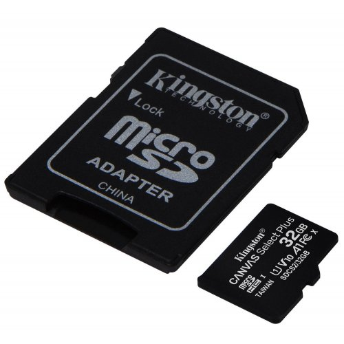 Фото Карта пам'яті Kingston microSDHC Canvas Select Plus 32GB Class 10 (с адаптером) (SDCS2/32GB)