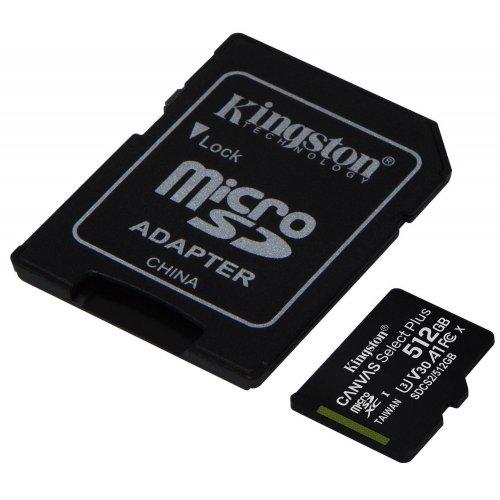 Фото Карта памяти Kingston microSDXC Canvas Select Plus 512GB Class 10 (с адаптером) (SDCS2/512GB)