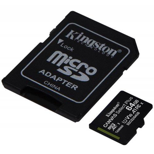 Фото Карта памяти Kingston microSDXC Canvas Select Plus 64GB Class 10 (с адаптером) (SDCS2/64GB)