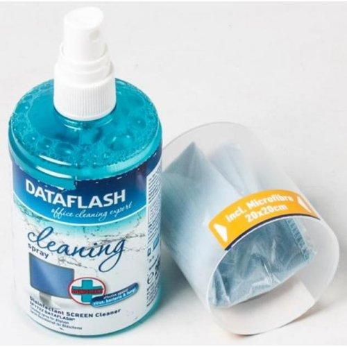Фото Набор для чистки DataFlash 2 in 1 Cleaning Kit TFT/LCD 200ml + 1 Cloth (DF1722)