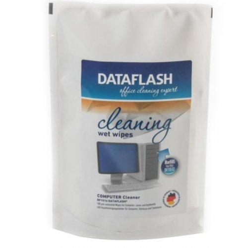 Фото Влажные салфетки DataFlash Cleaning Wipes 100pcs (DF1516B)