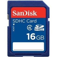 Фото Карта памяти SanDisk SDHC 16GB Class 4 (SDSDB-016G-B35)