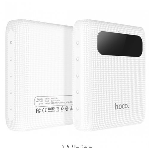 Фото Внешний аккумулятор Hoco B20 Mige LED Digital display 10000mAh White