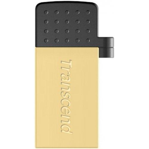 Фото Накопитель Transcend JetFlash 380 USB 2.0/MicroUSB 16GB Gold Plating (TS16GJF380G)