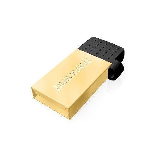 Фото Накопитель Transcend JetFlash 380 USB 2.0/MicroUSB 32GB Gold Plating (TS32GJF380G)