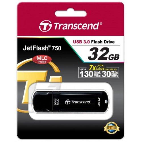 Фото Накопитель Transcend JetFlash 750 USB 3.0 MLC 32GB Black (TS32GJF750K)