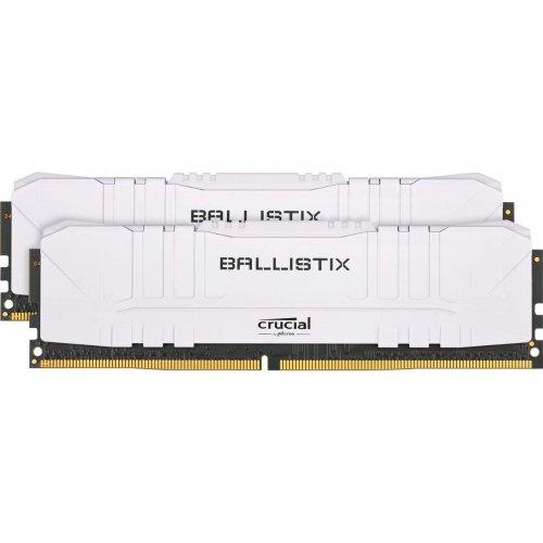 Фото Crucial DDR4 16GB (2x8GB) 2666Mhz Ballistix White (BL2K8G26C16U4W)
