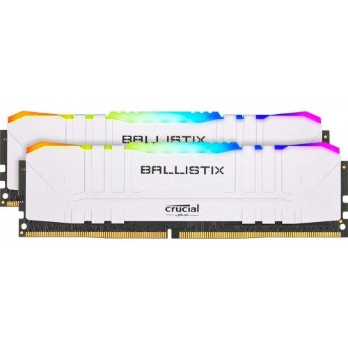 Фото Crucial DDR4 16GB (2x8GB) 3600Mhz Ballistix RGB White (BL2K8G36C16U4WL)