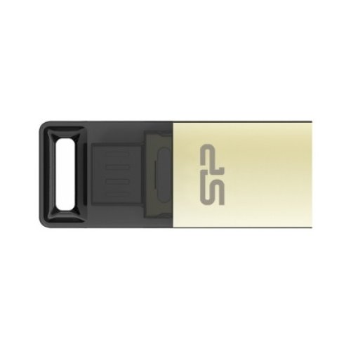 Фото Накопитель Silicon Power Mobile X10 USB 2.0/MicroUSB 16GB Champagne (SP016GBUF2X10V1C)