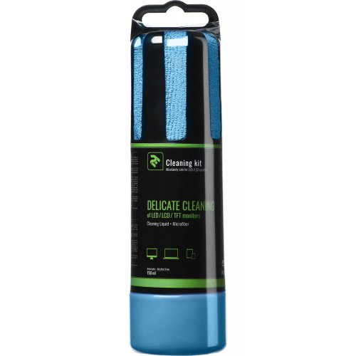 Фото Набір для чищення 2E 2 in 1 Cleaning Kit LED/TFT/LCD 150ml + 1 Cloth (2E-SK150BL) Blue