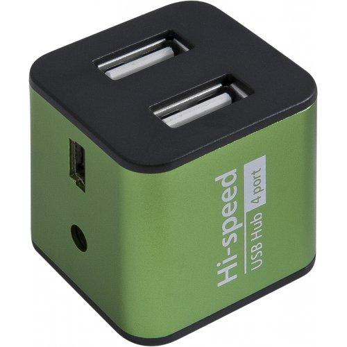 Фото USB-хаб Defender Quadro Iron USB 2.0 4-ports (83506) Green