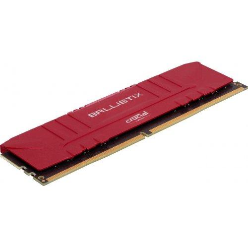Фото Crucial DDR4 16GB (2x8GB) 2666Mhz Ballistix Red (BL2K8G26C16U4R)