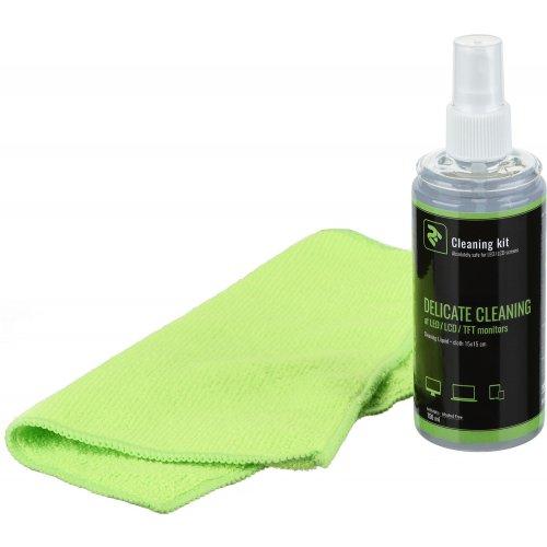 Фото Набор для чистки 2E 2 in 1 Cleaning Kit LED/TFT/LCD 150ml + 1 Cloth (2E-SK21L) Green