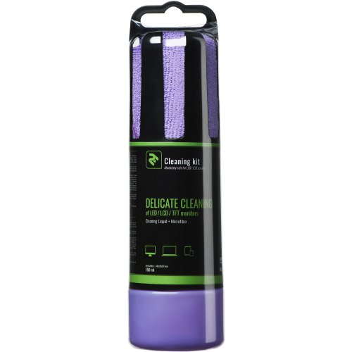 Фото Набор для чистки 2E 2 in 1 Cleaning Kit LED/TFT/LCD 150ml + 1 Cloth (2E-SK150VT) Violet