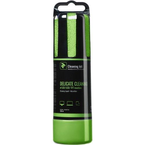 Фото Набор для чистки 2E 2 in 1 Cleaning Kit LED/TFT/LCD 150ml + 1 Cloth (2E-SK150GR) Green