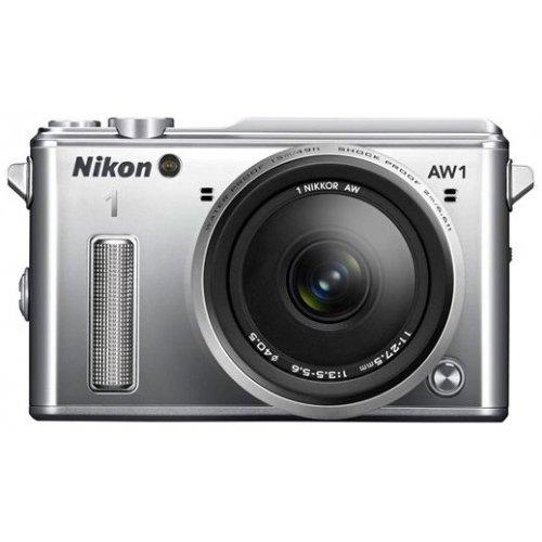 Фото Цифровые фотоаппараты Nikon 1 AW1 10 2.8 AW + 11–27.5 AW Kit Silver