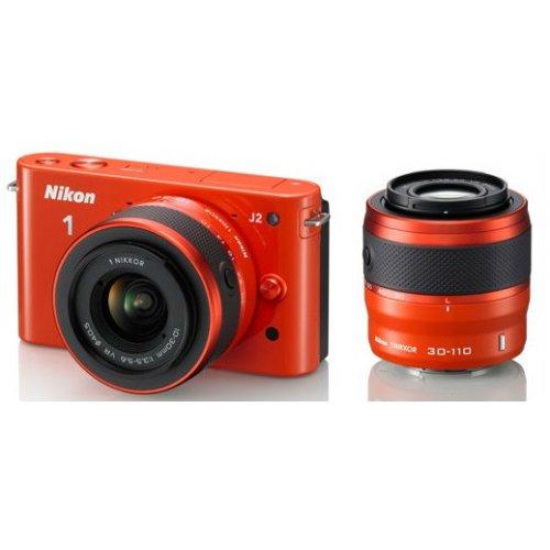 Фото Цифровые фотоаппараты Nikon 1 J2 10-30 VR + 30-110 VR Kit Orange