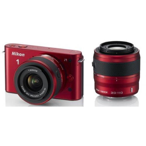 Фото Цифровые фотоаппараты Nikon 1 J2 10-30 VR + 30-110 VR Kit Red