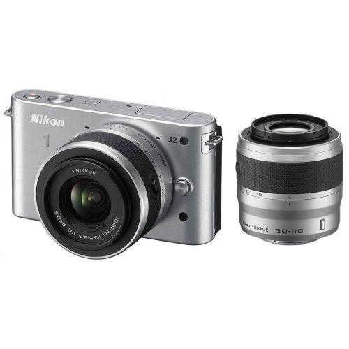 Фото Цифровые фотоаппараты Nikon 1 J2 10-30 VR + 30-110 VR Kit Silver