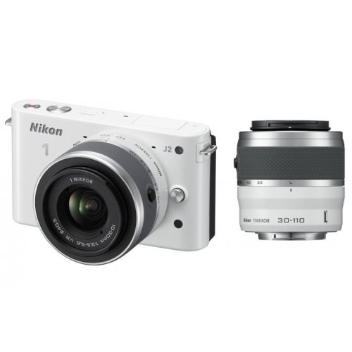 Фото Цифровые фотоаппараты Nikon 1 J2 10-30 VR + 30-110 VR Kit White