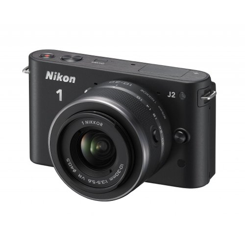 Фото Цифровые фотоаппараты Nikon 1 J2 10-30 VR Kit Black