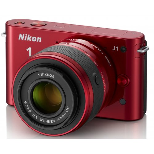 Фото Цифровые фотоаппараты Nikon 1 J2 10-30 VR Kit Red